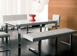 Kimi bench and Emmett table, for canteen style dining at home