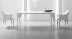 Danetti white leather dining chair, Magi