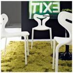 Danetti white dining chair, Moori
