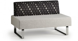 Delta modular seating, armless sofa