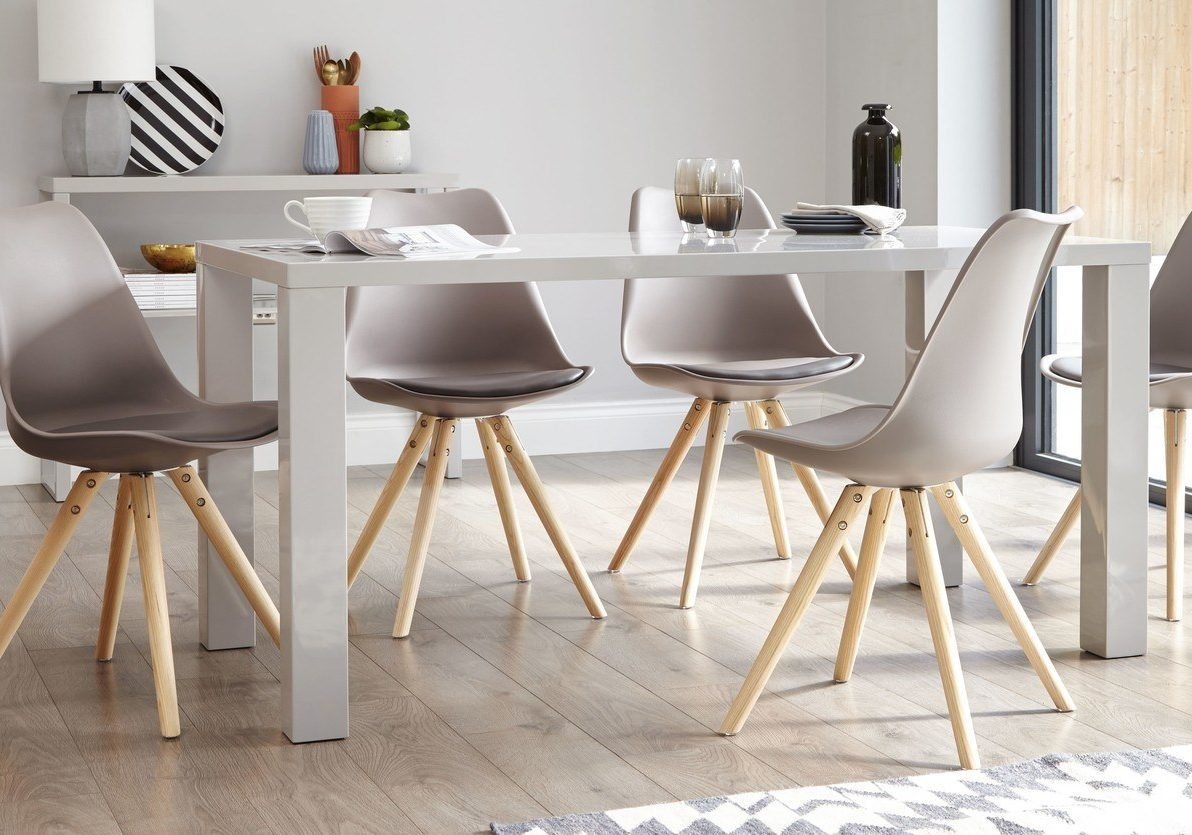 Fern Grey Gloss 6 Seater Dining Table
