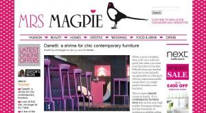 Online magazine Mrs Magpie