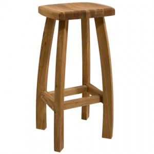 Beautiful wood, oak bar stool