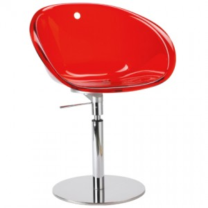 Coco flat chair in red