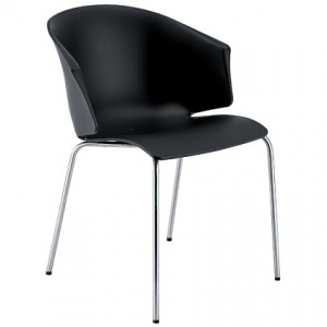Agata black dining chair from Danetti