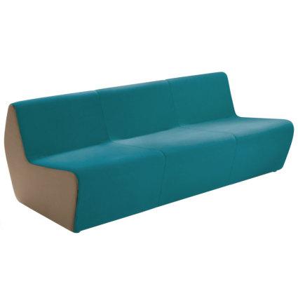 Dorna trio seat, in turquoise