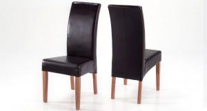 Karri leather dining chair