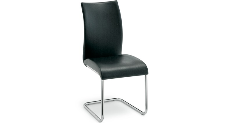 Lula black leather dining chair from Danetti