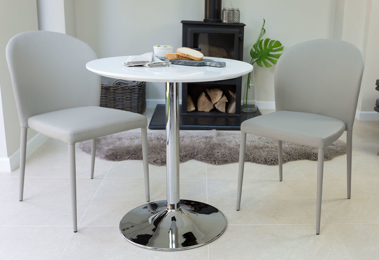 Naro Round 2 Seater White Gloss Table
