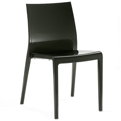 Primo black gloss dining chair