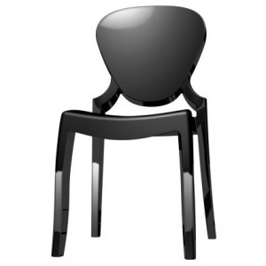 Regal black plastic dining chair
