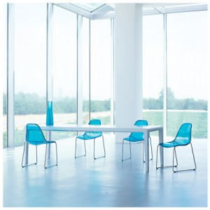 Sporta dining chair, in turquoise