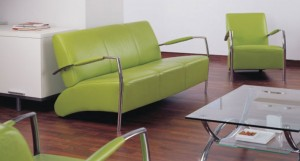Bodil sofa with metal arms