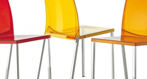 The Kool plastic chair for outdoor or indoor use