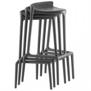 The stackable Silvi plastic bar stool