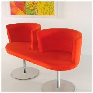 Alto flat bench in orange