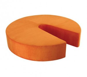 Emilio pouf in orange