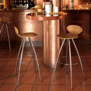 Odette bar stool natural wood