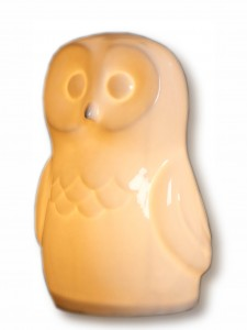 Owl lamp £59, White Rabbit England