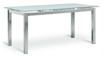 Saya extending glass desk
