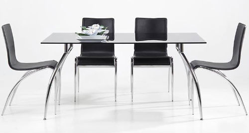 YOU black dining table - ideal for a high end rental property