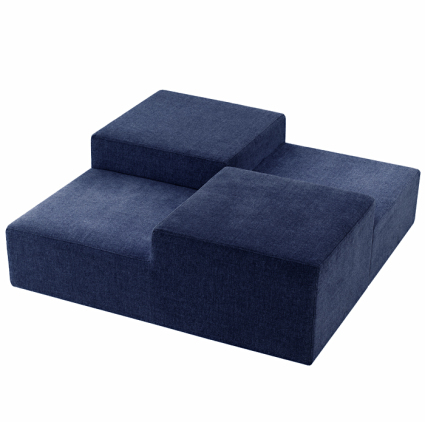Block cube seating available in red white and blue