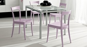 Vera glass dining table