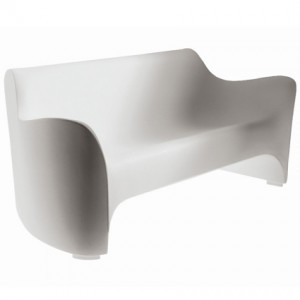Arima moulded plastic sofa for garden