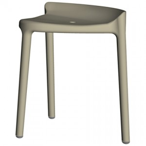 Silvi low stool in grey