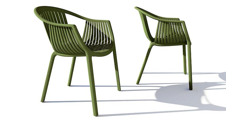 Tastio deluxe outdoor chair in green