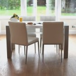 Angola White Gloss Table And 4 Moda Chairs Dining Set