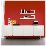 Santino White High Gloss Sideboard