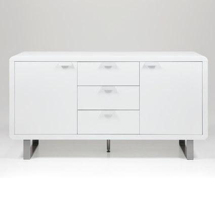 Umbria White High Gloss Sideboard