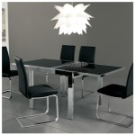 Etti Black Glass Square Extending Dining Table