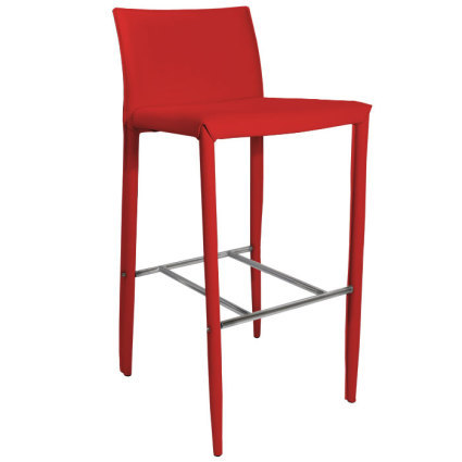 Elegance Red Leather Bar Stool