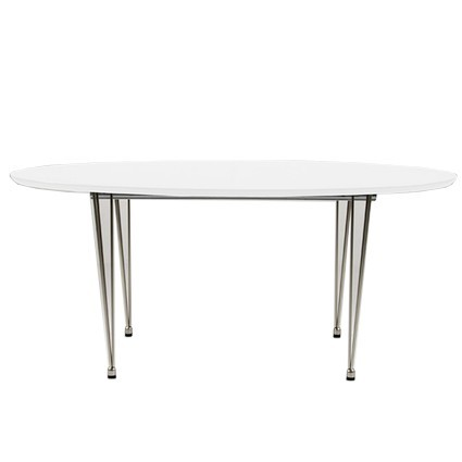 Ellie White Oval Extending Dining Table