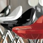 Frascati Funky Red Bar Stool