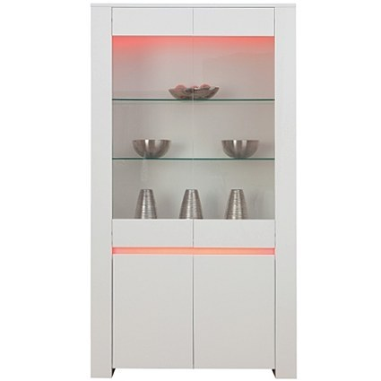 Ambient White Gloss Display Cabinet