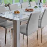 An Extending White Hi Gloss Dining Table:  the Perfect Solution for Christmas Dining