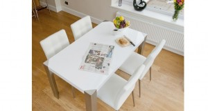 Angola White Gloss Dining Table