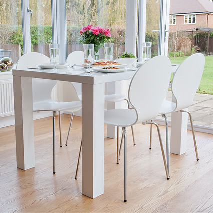 Fern 4 Seater White Gloss Dining Table