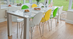 Fern White Gloss Extending Dining Table