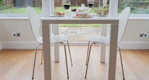 Fern White Gloss Kitchen Table
