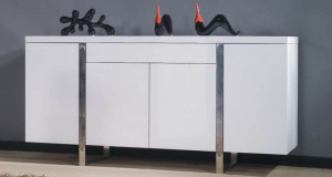 Fern White Gloss Sideboard