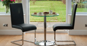 Imola Black Cantilever Dining Chair