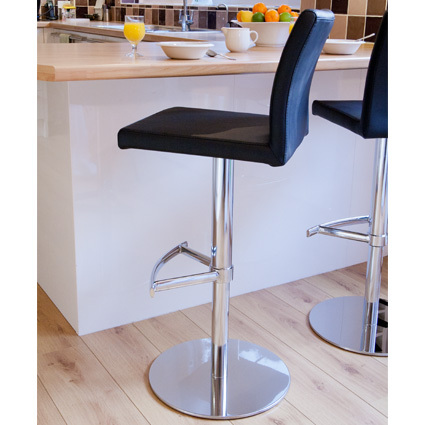 Elise Chrome Gas Lift Bar Stool