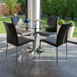 Naro Clear Glass and Elise 4 Seater Dining Set