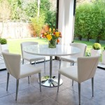 Naro White Round and Curva 4 Seater Dining Set
