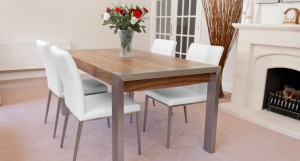 Style Walnut Extending Dining Table