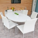 Modern White Dining Tables and Trendy Coloured Chairs